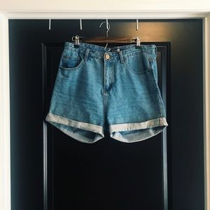 High-Waisted Jean Shorts